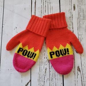 "Kate Spade ""POW!"" mittens"
